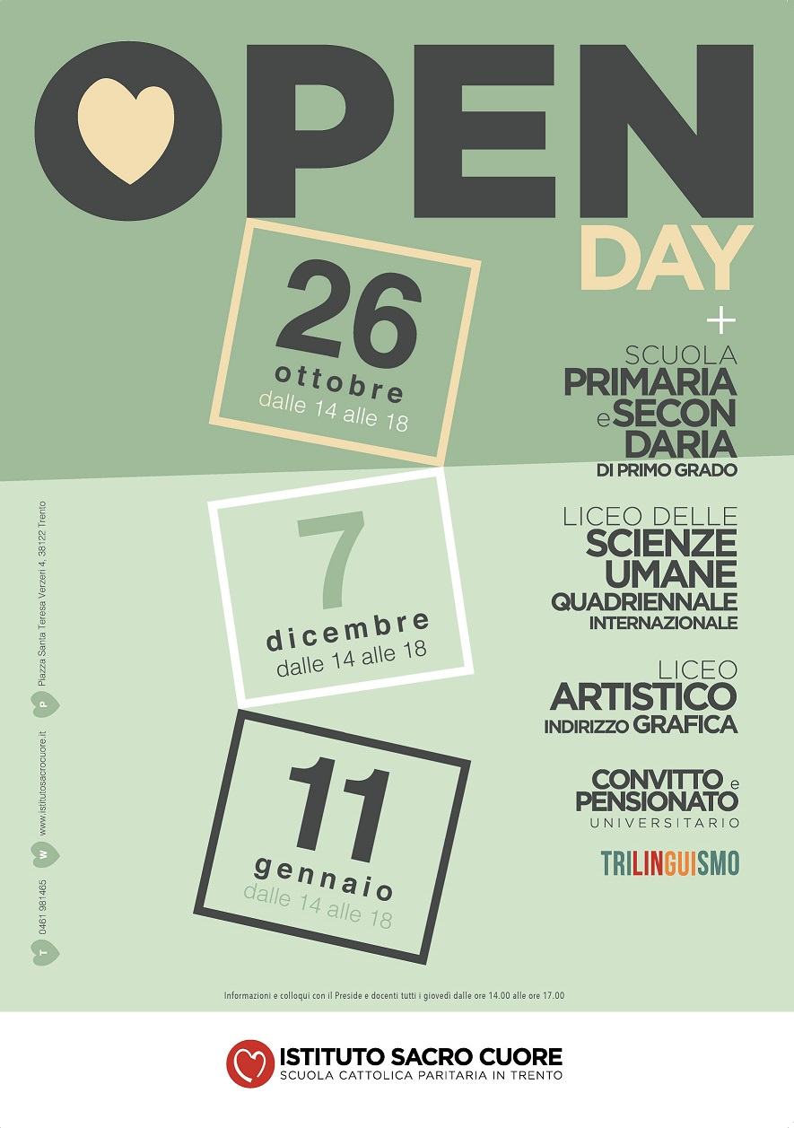 SACRO CUORE N3 date open day 2019